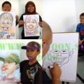 Cartoonist in Singapore conduct art lesson during school holiday