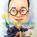 Caricature drawing as gift for retiring colleague who likes Harry Potter