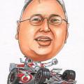 F1 mclarren caricature gift