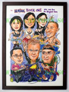 The caricature was framed with our standard frame.