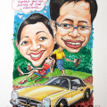 caricature-anniversary-mercedes-couple
