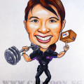 caricature-fedex-olympic-gold-medal-weightlifting-1