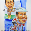 caricature-husband-golfer-cyclist