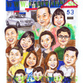 Family business - Betex paints group caricature