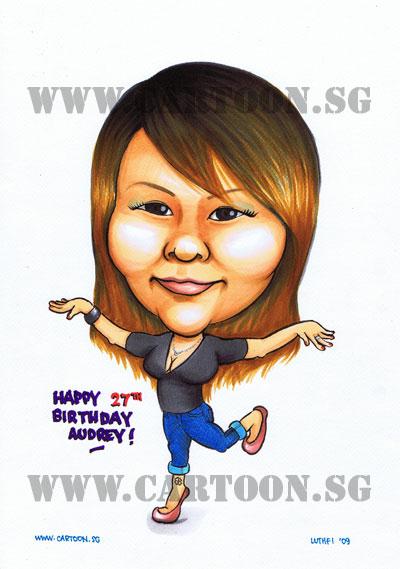 birthday caricature friend