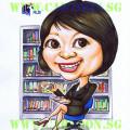 Caricature-Singapore-Librarian-Award