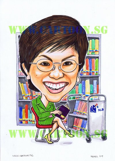caricature-singapore-librarian-boss-gift.jpg