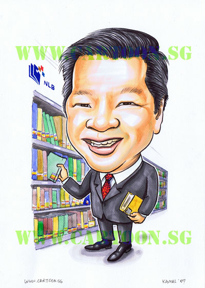caricature-singapore-librarian-boss-present.jpg