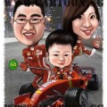 f1-digital-singapore-caricature-racing-family