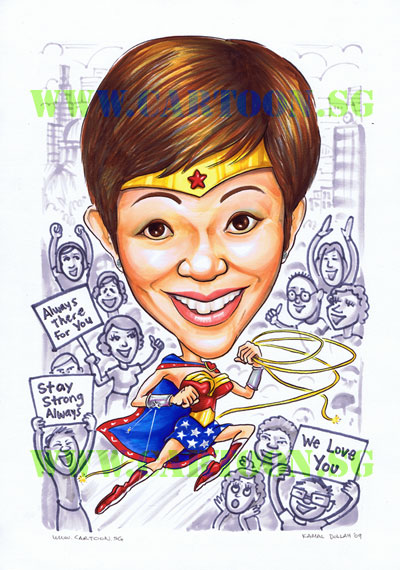 Wonder-woman-caricature-superhero