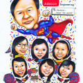 adecco-caricature-superman-cheerleader-uniform-birthday-cake