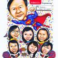 adecco-caricature-superman-cheerleader-uniform-birthday-cake