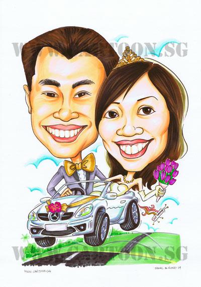 mercedes-car-wedding-couple