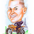 BHP-Singapore-Caricatures-Motorbike-Paris