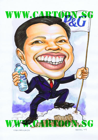 Promotion-Gift-Caricature-for-HR-General-Manager-P&G