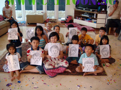 CartoonSG Singapore Caricature Artists for Gifts EventsBirthday