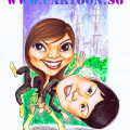 kualalumpur-twintower-girls-adidas-jacket-sports-boots-singapore-caricature