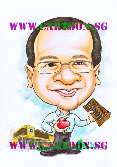 caricature-singapore-beatty-secondary-teacher-maths-apple-abacus