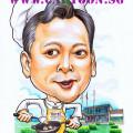 caricature-singapore-timsum-chef-cook