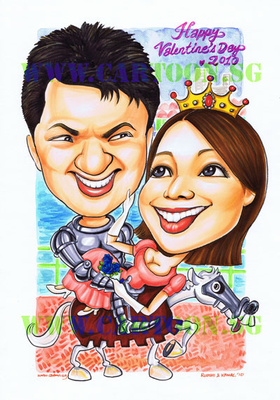 Couple-gift-knight-princess-valentine-Singapore