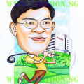 Golfer-Gift-Boss-Singapore-Caricature