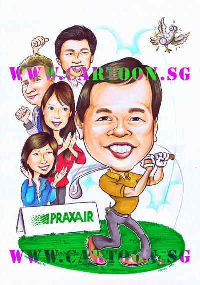 caricature-cartoon.sg-praxair-corporate-golf-boss-staffs