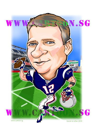 gift-boss-caricature-new-england-patriots-american-football-singapore