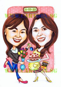 Birthday Girls Gift Caricature