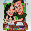 gift caricature dating couple singapore cartoon.sg