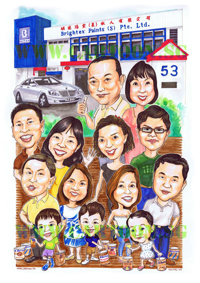 Betex Family Caricature