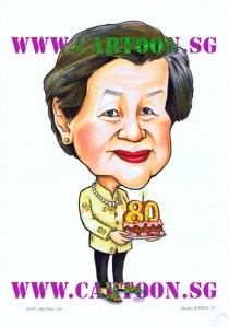 Granny 80th Birthday Caricature