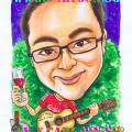 gift caricature liverpool fan guitar wine fine dine