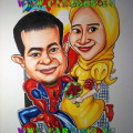 spiderman-wedding-roses-super-hero-caricature-cartoon.sg-singapore