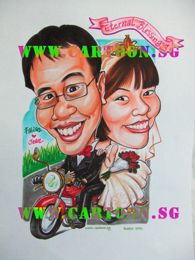 Wedding Gifts For Couples In Singapore : ... CoupleCartoon.SGSingapore Caricature Artists for Gifts & Events