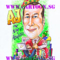 AJ-The-King-Of-Analytics-Gift-Caricature-Singapore