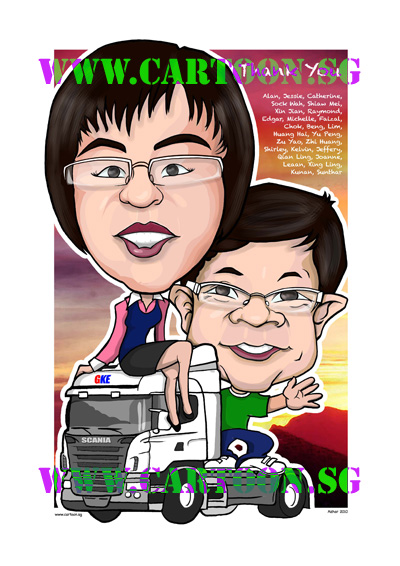 GKE-truck-gift-caricature