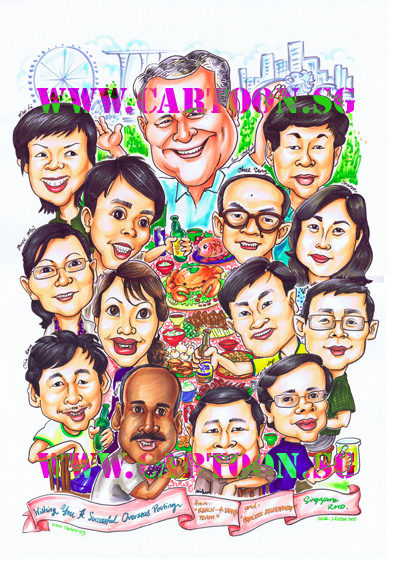 Reach-&-Safety-Team-cartoon-caricature-boss-farewell-gift-singapore-corporate