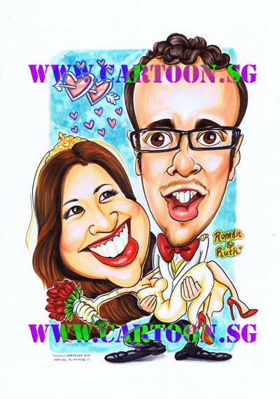 Wedding-Gift-Caricature-Artist