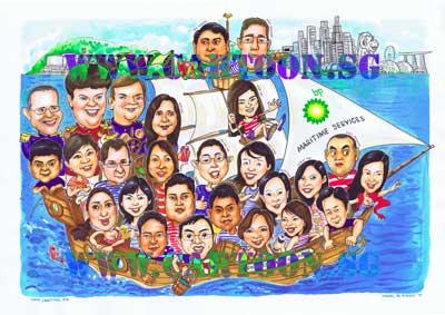 bp-maritime-farewell-gift-caricature