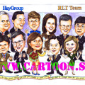 farewell-gift-caricature-colleague-corporate-roses