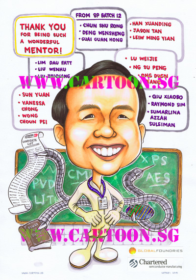 Farewell-Gift-Caricature-SP-Mentor-Dr-Ng-Chee-Mang