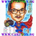 Farewell-Gift-Caricature-Superman-Photographer