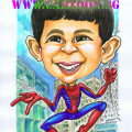 Spiderman-Themed-Gift-Caricature
