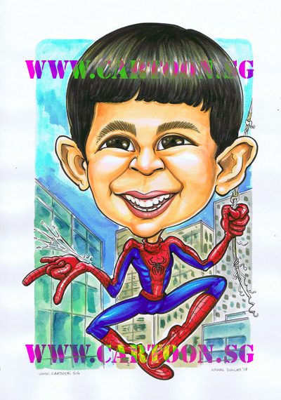 spiderman-themed-gift-caricature.jpg