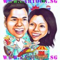Gift-Caricature-Couple-Amusement-Park