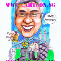 gift-caricature-trelleborg-corporate-business-tyres-tires-merlion-klcc-kl-tower-jakarta