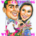 wedding-gift-caricature-couple-travel