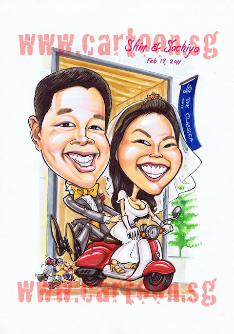2010-11-19-wedding-scooter-japan-caricature.jpg