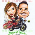 Newly Wed Caricature Gift