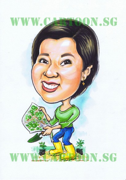 Landscape Architect - Gift Caricature